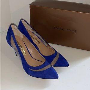 Audrey Brooke crystal blue heels woman's 6